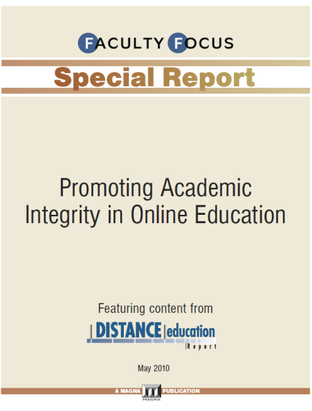Cover page: Promoting Academic Integrity